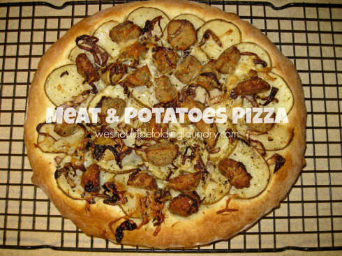 meat & potatoes pizza