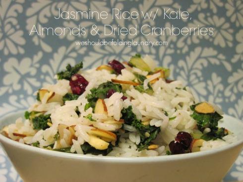 jasmine rice w/ kale