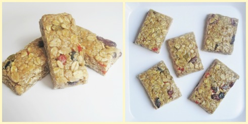 Chewy Spiced Oat Bars