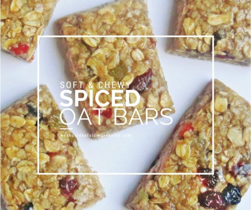 soft and chewy spiced oat bars