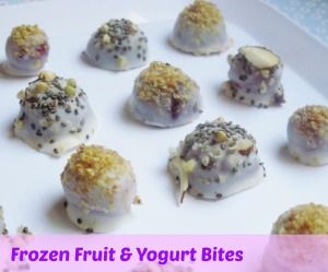 frozen fruit & yogurt bites