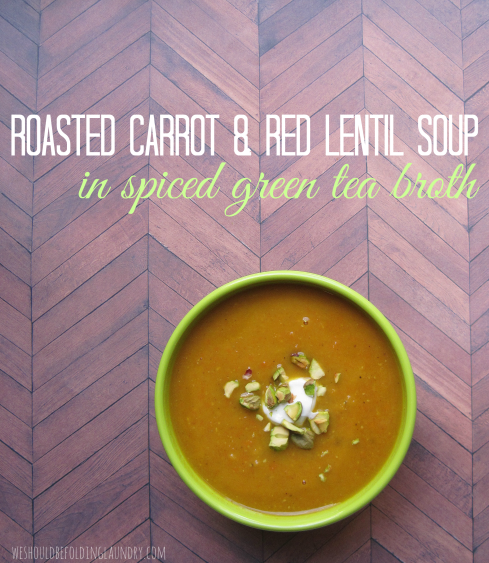 carrot & red lentil soup