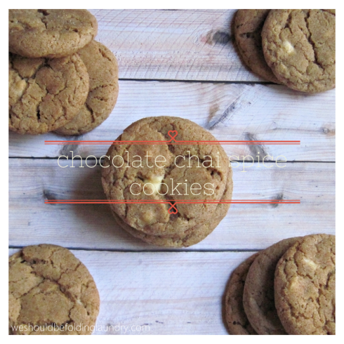 chocolate chai spice cookies