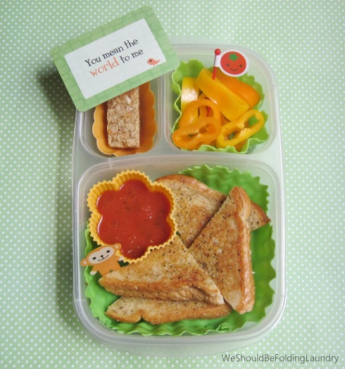 pizza grilled cheese bento