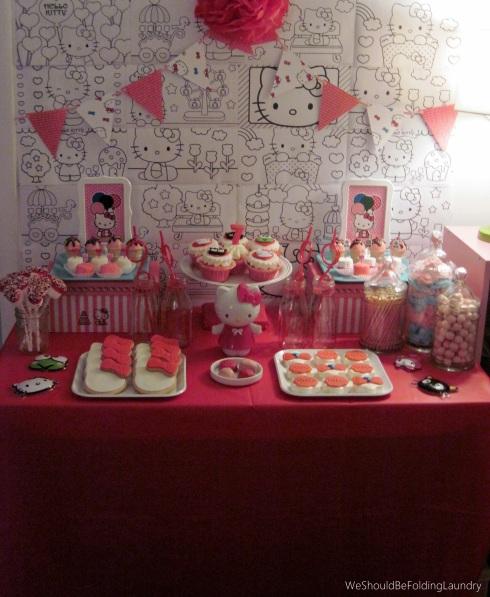 cam's 7th birthday treat table