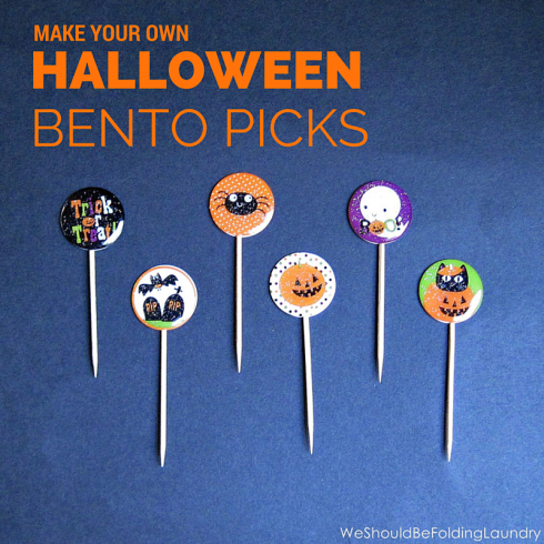 Halloween bento picks