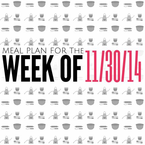 meal plan 11-30-14