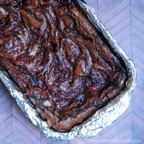 habanero raspberry guinness brownies