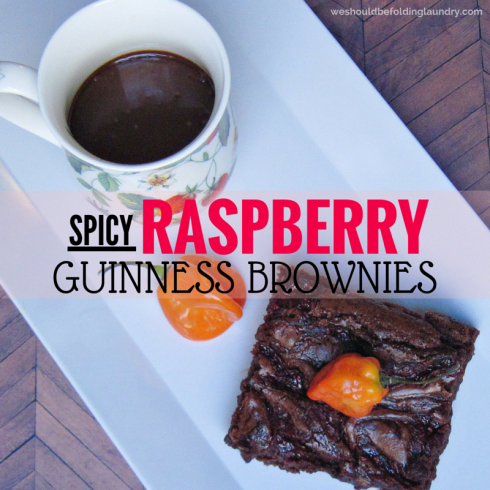 habanero raspberry guinness brownies